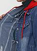 """Стильна джинсова куртка зі знімним капюшоном """"Кеймбрідж"""", фото 3"""