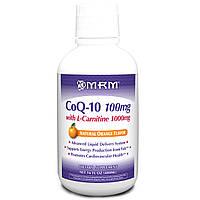 Коэнзим Q10+ L-Карнитин (100 мг+1000 мг) 480 мл для сердца, снижение холестерина от атеросклероза MRM USA