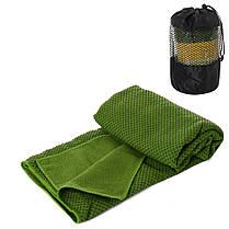 Полотенце для йоги/ полотенце для фитнеса (Синее), фото 2