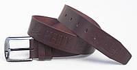 Мужской коричневый кожаный ремень Philipp Plein для джинсов, фото 1