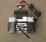Компрессор, 12V, 10Aтм, 60 л/мин., 2-ух поршневый, клеммы, шланг 5 м., фото 3