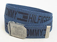 Тканевый синий ремень для джинс, фото 1