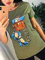 Женская футболка с рисунком, фото 1