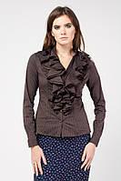Блуза женская Кокилье коричневая в полоску