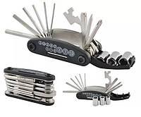 Мультитул 16в1 Многофункциональный набор ключей для ремонта велосипеда