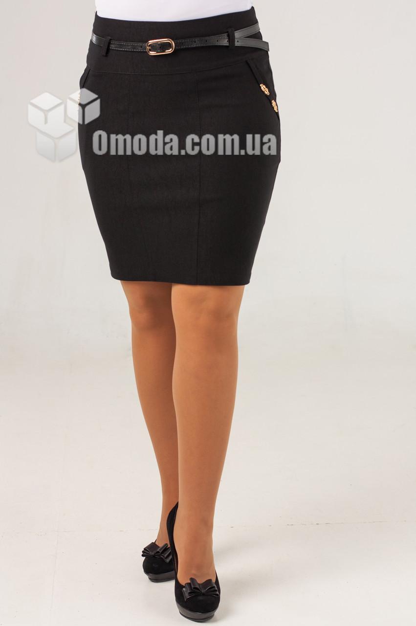Женская короткая юбка карандаш черного цвета. Капелька версия2.0 молодежная