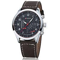 Мужские армейские часы Curren Chronometer Soldier Серебряный