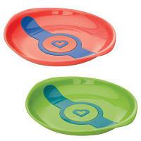 Набор детской посуды Munchkin Тарелки White Hot зеленая и оранжевая (012104.02)