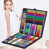 Набір для малювання на 258 предметів! Великий художній набір для малювання в валізці Colorful Italy