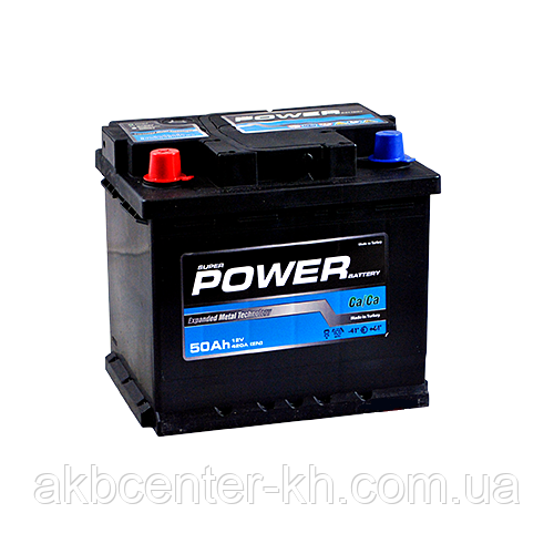 Автомобильный аккумулятор POWER MF BLACK 6СТ- 50Аз 420 L