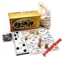 Лото русское в картонной коробке набор для лото