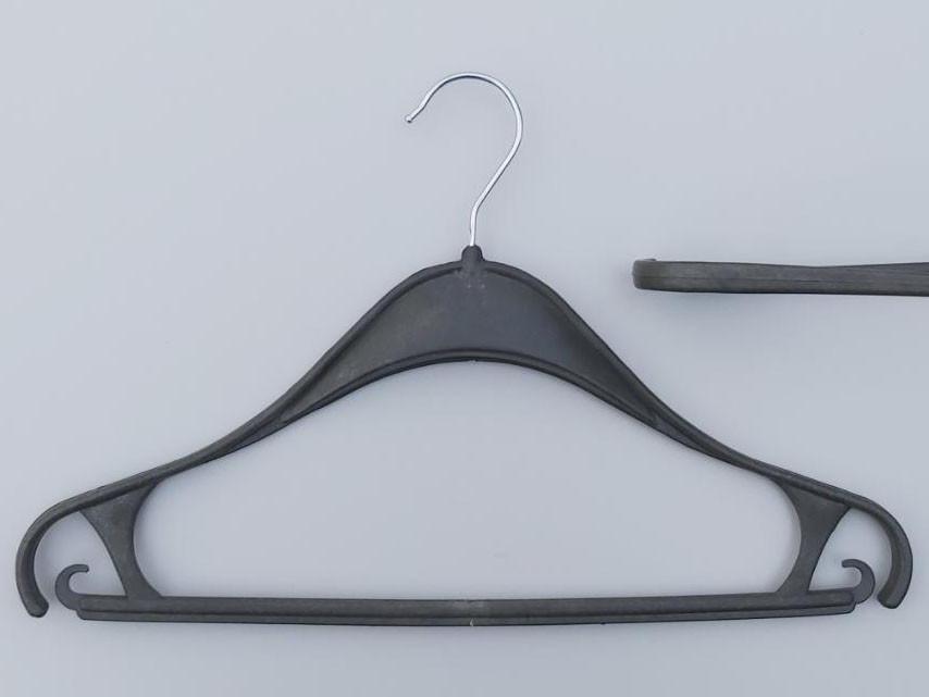 Длина 40 см. Плечики вешалки пластмассовые Турок цвет темное хаки