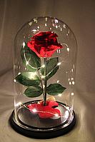 Роза в колбе с LED подсветкой большая красная №А78