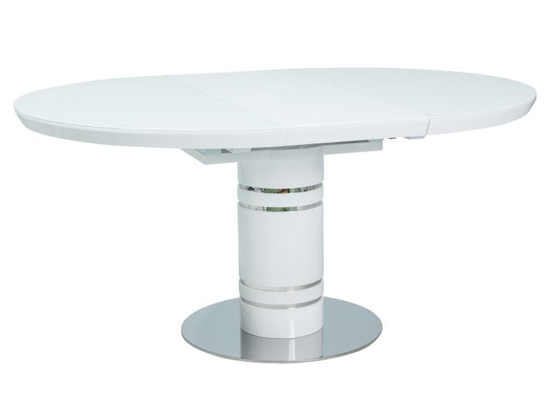 Стол раскладной STRATOS белый лак 120(160)x120 (Signal)