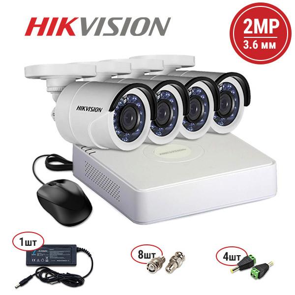 Комплект видеонаблюдения Hikvision TVI 4 out