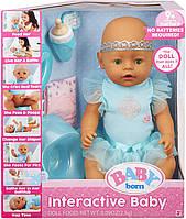 Интерактивная Кукла пупс Беби Борн Baby Born Interactive Baby with 9 Nurturing Ways Green Eyes Toy
