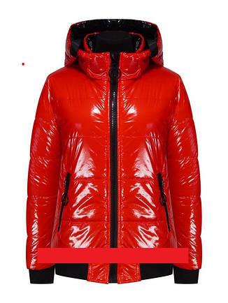 Куртка детская демисезонная лаковая для девочки TLN Kids 210 | размеры на рост 122, 128, 140, фото 2