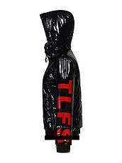 Куртка детская демисезонная лаковая для девочки TLN Kids 210 | размеры на рост 122, 128, 140, фото 3
