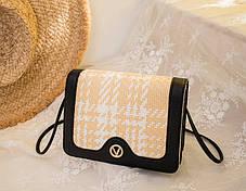 Милая повседневная сумка клатч  на ремешке, фото 2