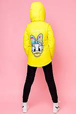 Куртка трансформер детская демисезонная для девочки vkd 26, размеры 110, 116, 122, 128, 134, 140, 146, 152, фото 3