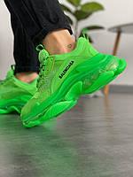 Женские кроссовки Balenciaga Triple S Neon Green зеленые (топ качество) 36