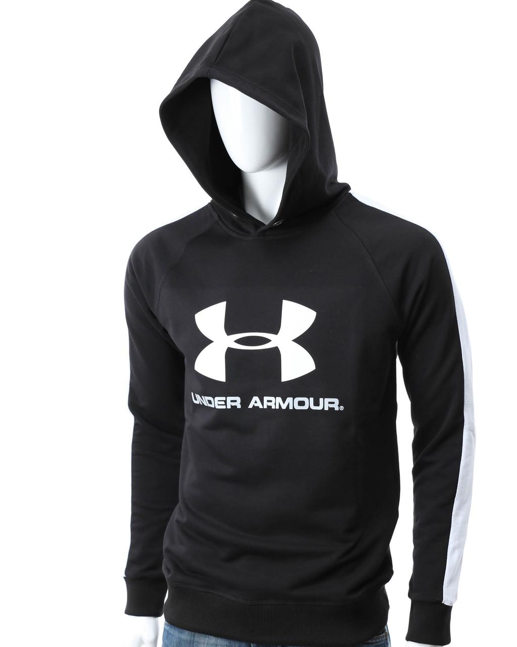 Худи черный/белый UNDER ARMOUR с лого Р-6 BLK/WHL S(Р) 20-474-601