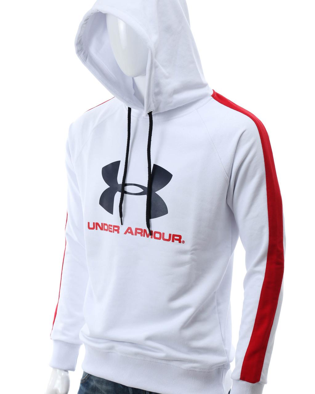 Худи белый/красный UNDER ARMOUR с лого Р-6 WHL/RED L(Р) 20-474-601