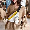 Плюшевая поясная сумка бананка с брелком Мишка, фото 5