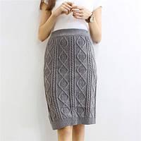 Удлиненная вязаная юбка