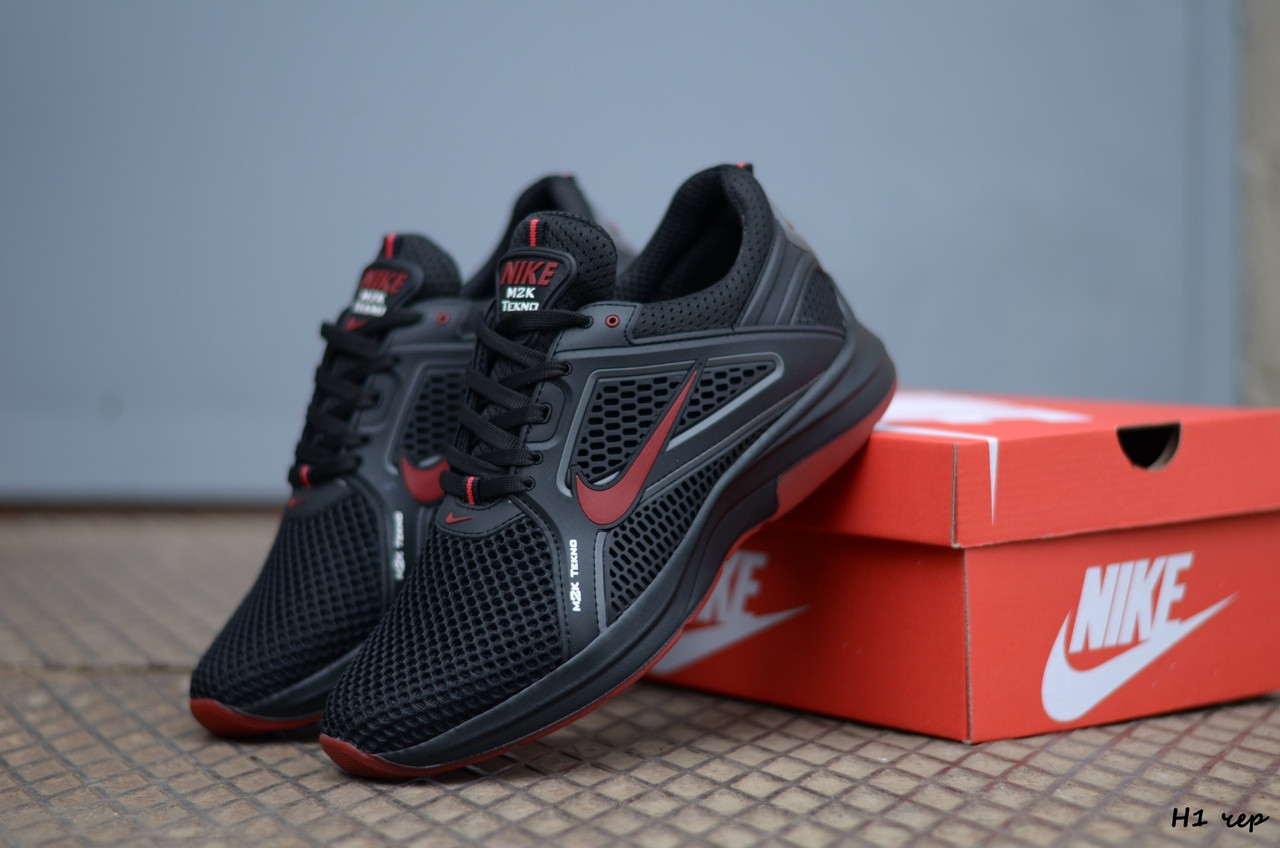 Мужские кроссовки Nike (Реплика) (Код: Н1 чер  ) ►Размеры [40,41,42,43,44,45]