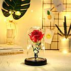 Роза синяяя в колбе с LED подсветкой № А51, фото 3