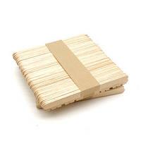Деревянные палочки для мороженого (50 шт.) длина 9,3 см.