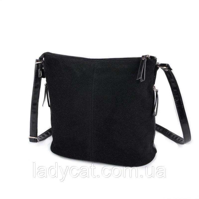 Жіноча замшева сумка через плече М78-33/замш