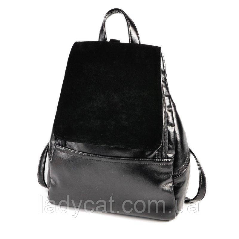 Жіночий повсякденний рюкзак М104-Z/замш
