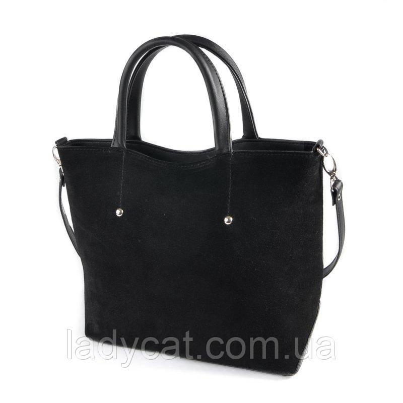 Женская сумка из натуральной замши М75-42/замш