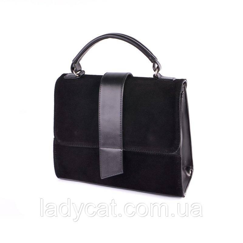 Замшевая сумочка с ремешком на плечо М248-33/замш
