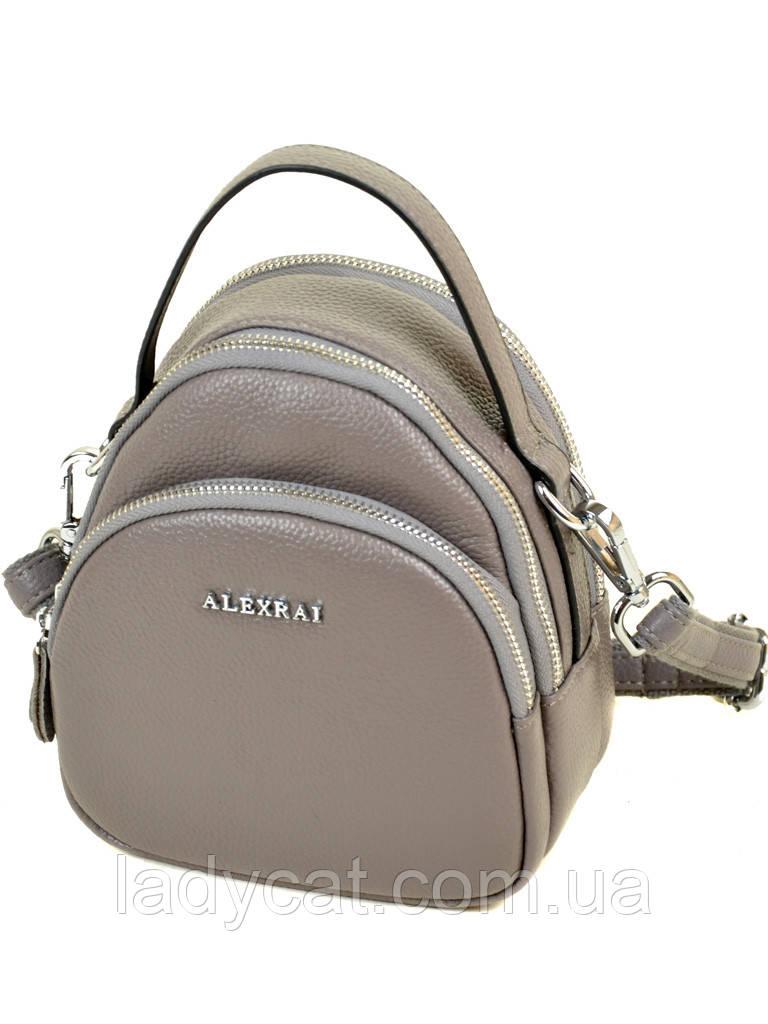 Женская кожаная сумочка-клатч 03-1 3905 grey