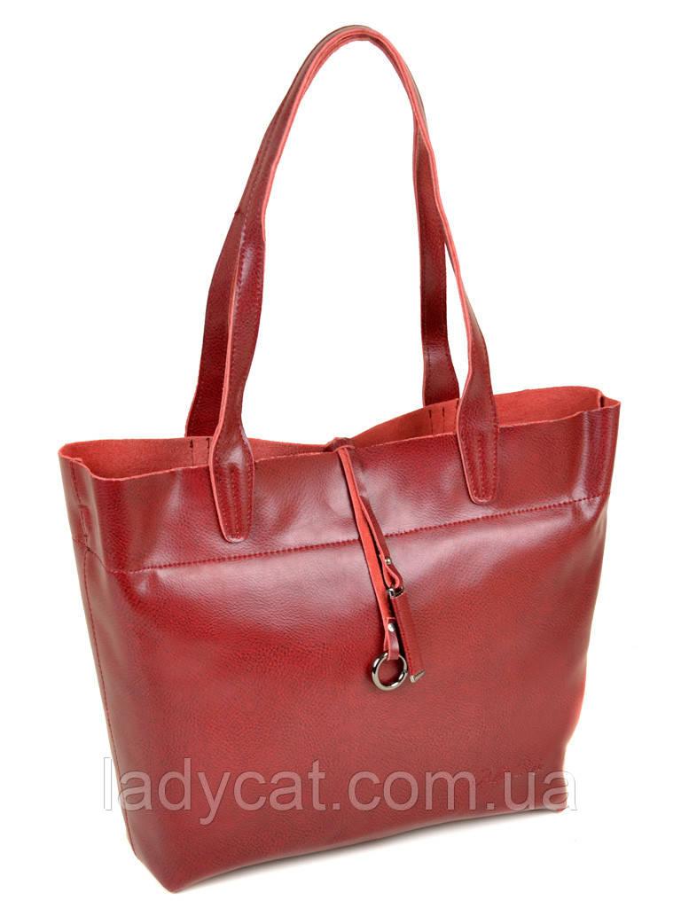Женская сумка из натуральной кожи 10-03 J002 wine-red