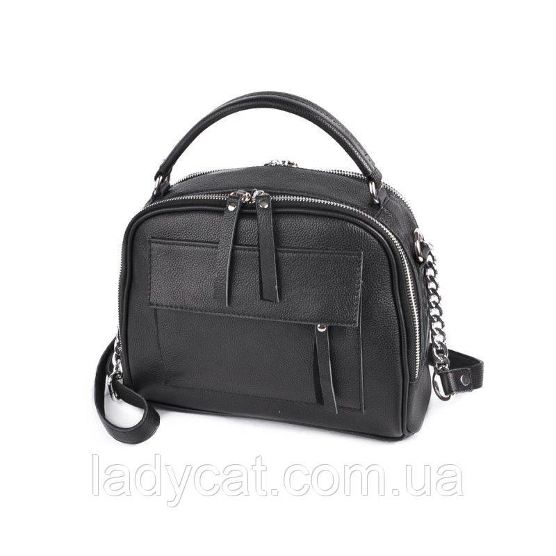 Жіноча шкіряна сумка М198 black