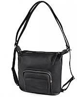 Жіноча сумка-рюкзак з натуральної шкіри М241 black, фото 1