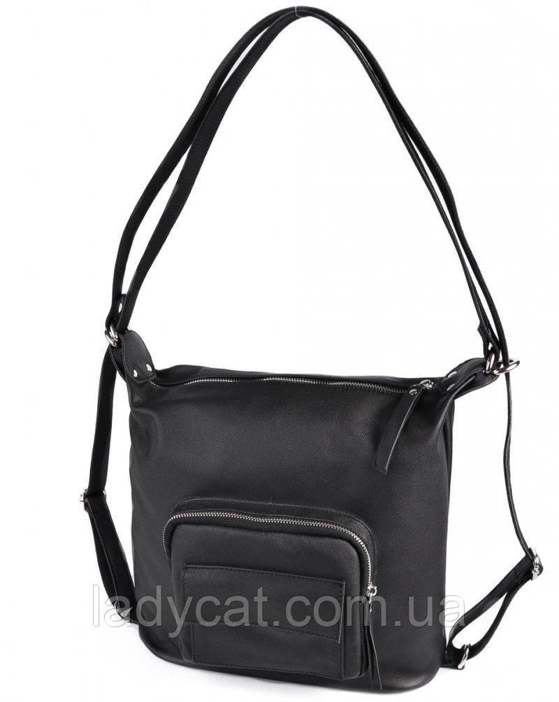 Жіноча сумка-рюкзак з натуральної шкіри М241 black