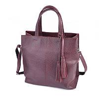 Женская кожаная сумка М243 бордо, фото 1