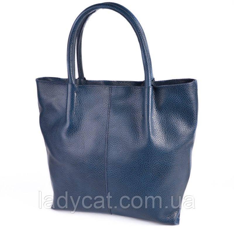 Женская сумка из натуральной кожи М72 blue