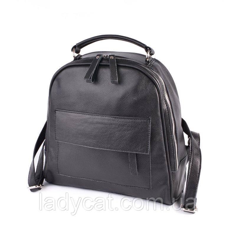 Шкіряний жіночий рюкзак М258 black