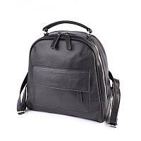 Шкіряний жіночий рюкзак М258 black, фото 1