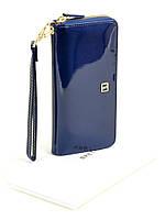 Женский лаковый кошелек-сумочка W38 dark-blue, фото 1