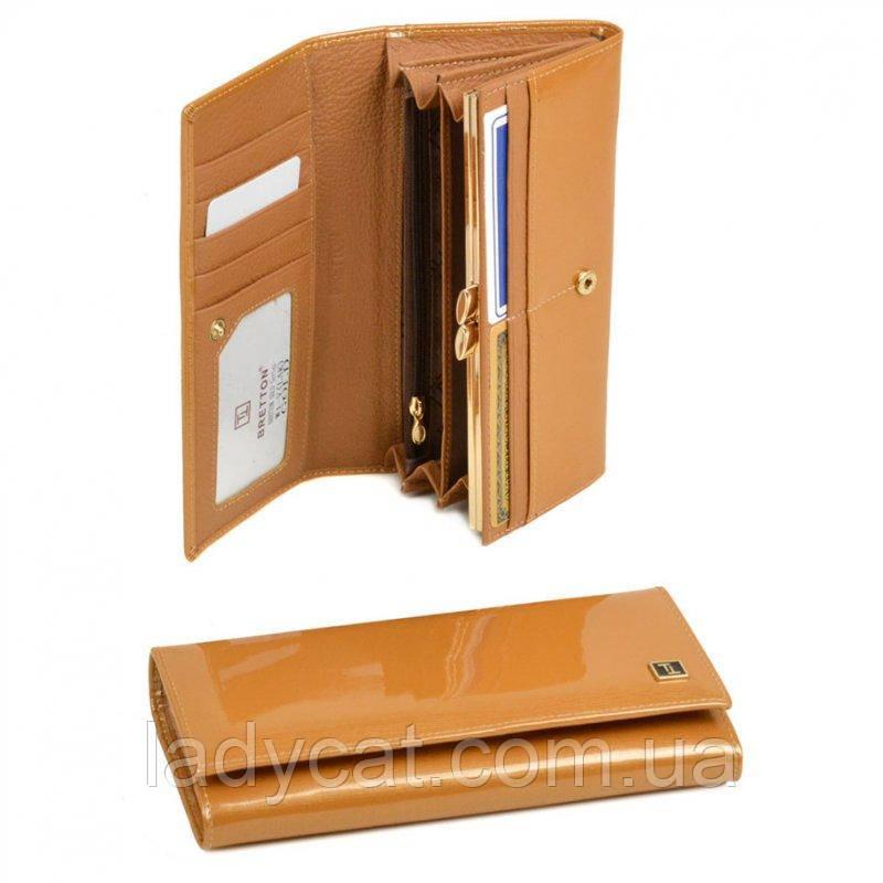 Женский лаковый кошелек Gold W1-V gold