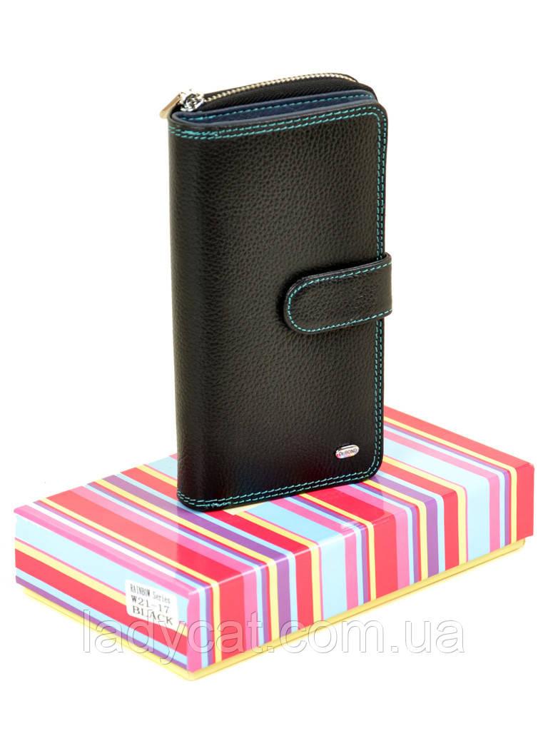 Женский кошелек Rainbow W21-17 black