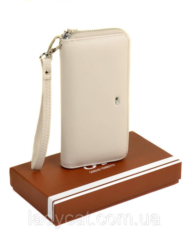 Женский кошелек-сумочка W38 beige