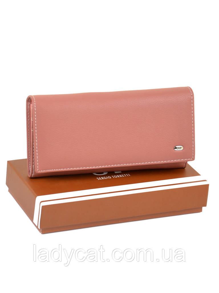Большой женский кошелек из иск. кожи W501 light-orange